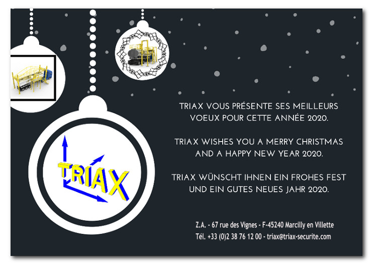 Triax wishes you a merry Christmas and happy new year 2020