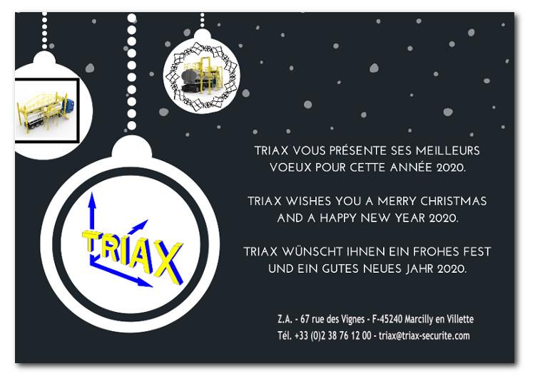 Triax wünscht ihnen ein frohes Fest und ein gutes neues Jahr 2020